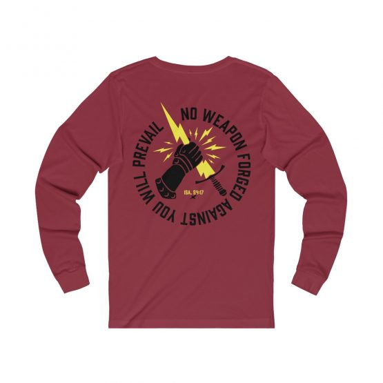 Prevail Long Sleeve Tee Red Front