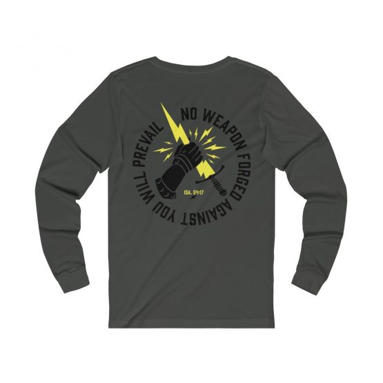Prevail Long Sleeve Tee Gray Front