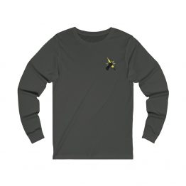 Prevail Long Sleeve Tee Gray Back