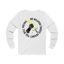 Prevail Long Sleeve Tee White Back