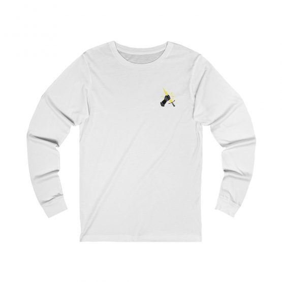 Prevail Long Sleeve Tee White Front